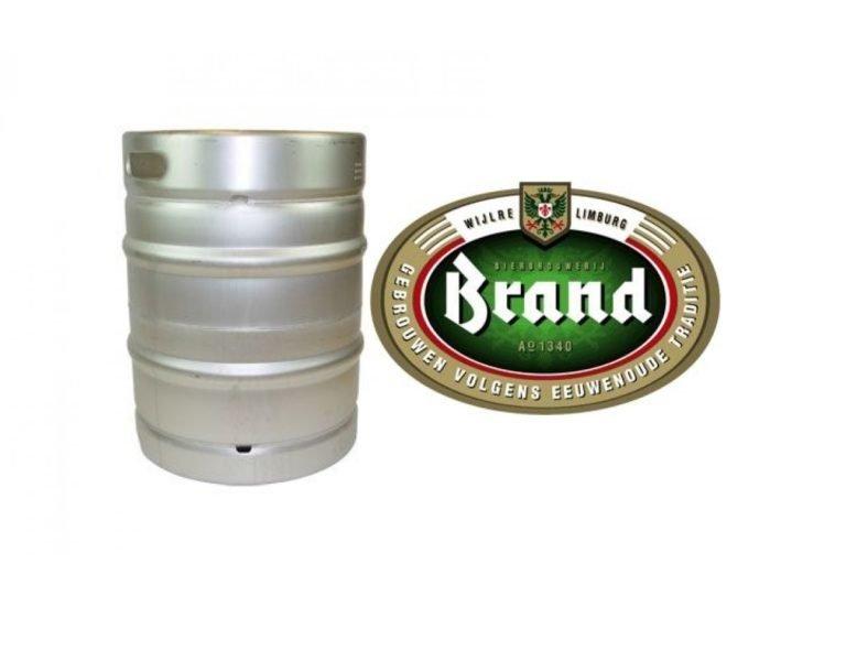 Brand Bier fust met logo