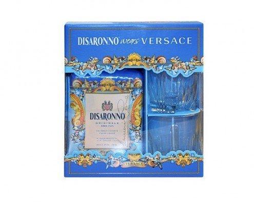 Disaronno Amaretto Versace met 2 glazen