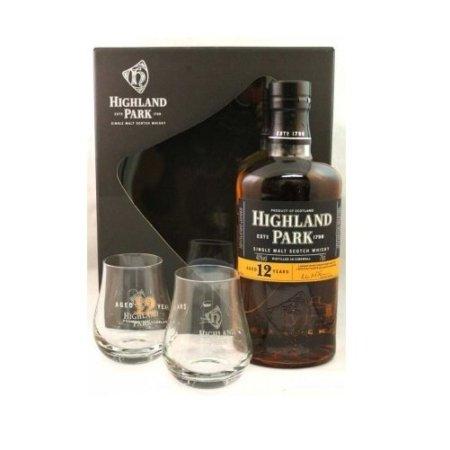 Highland Park 12 Years met 2 glazen