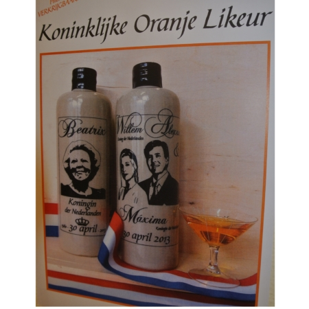 """Speciale """"Troonswisseling 2013"""" Oranje Likeur"""