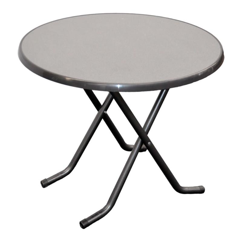 Ronde (lage) tafel grijs