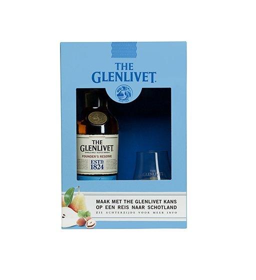 Glenlivet Founders Reserve met glas