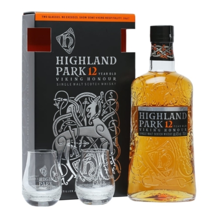 highland park 12 Years old 2 glass giftset