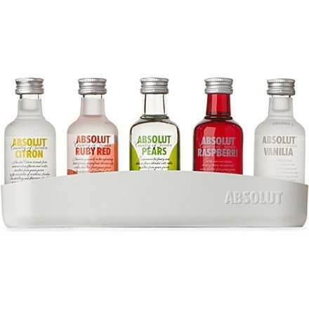 Absolut mini vodka
