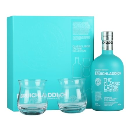 bruichladdich the classic laddie 2 glass gift pack