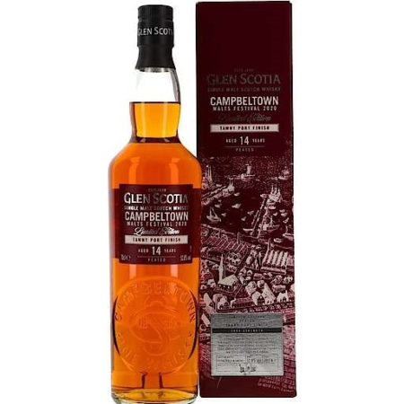 Glen Scotia Whisky Tawny Port Finish 14 Years Peated 52,8% 70cl