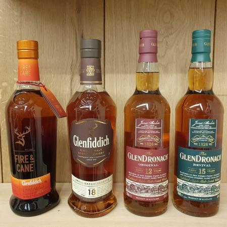 Samples 4x25ml Online Whiskyproeverij o.l.v. Tony van Rooijen & Nicole van Glendronach Whisky
