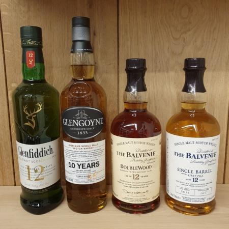 Samples 4x25ml Online Whiskyproeverij o.l.v. Tony van Rooijen & Robin Brilleman