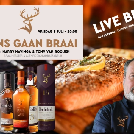"Sample Set 4x25ml Online Whiskyproeverij BBQ Vrijdag 3 juli ""Ons Gaan Braai"" o.l.v. Tony van Rooijen en Harry Havinga"