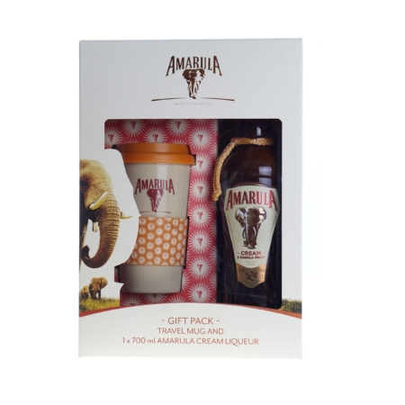 Amarula Cream likeur 70cl met Travel Coffee Mug
