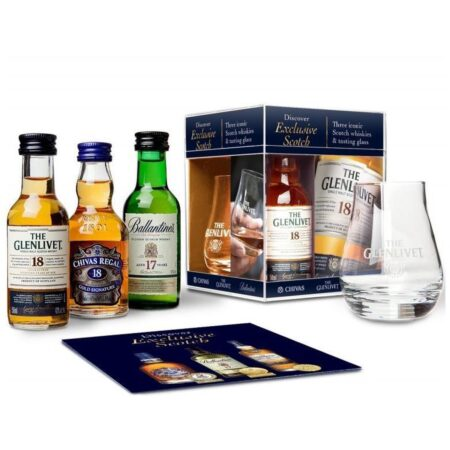 Exclusive Scotch Whisky Tasting Set 3x5cl met glas