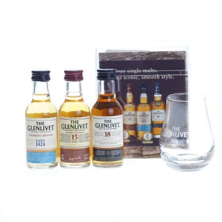 Glenlivet Whisky Tasting Set 3x5cl met tasting glas