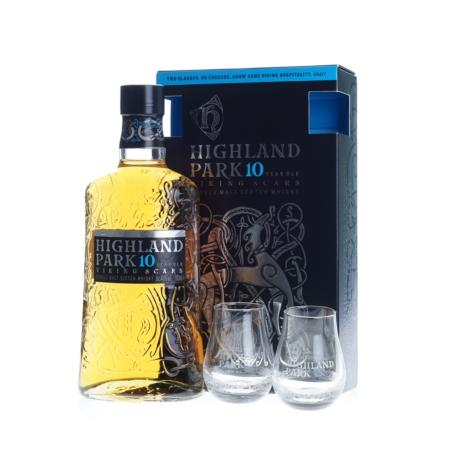 Highland Park Whisky 10 Years 70cl met 2 glazen