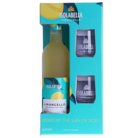 Isolabella Limoncello 70cl met 2 glazen