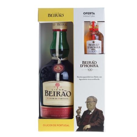 Licor Beirao 70cl met miniatuur D'Honra 5cl