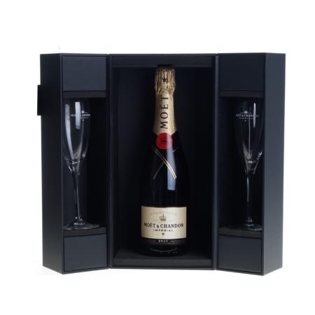 Moët & Chandon Champagne 75cl in giftbox met 2 glazen