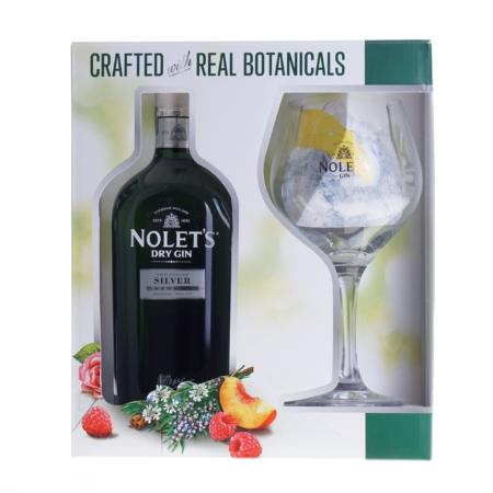 Nolet Silver Dry Gin 70cl met glas