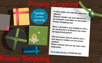 """Private Shopping """"Kerstpakketten"""""""