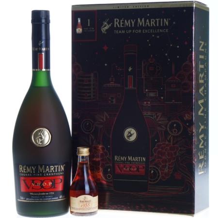 Remy Martin VSOP 70cl met mini Cognac 1738