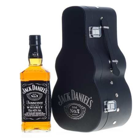 Jack Daniels Whisky 70cl in Giftbox Gitaar