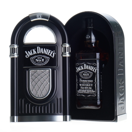 Jack Daniels Whisky 70cl in Jukebox Giftpack