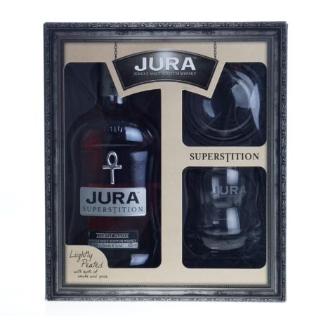 Jura Whisky Superstition 70cl met 2 glazen