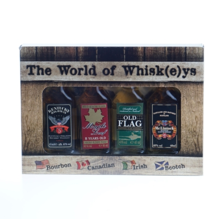 The World of Whiskeys giftpack 4x40ml