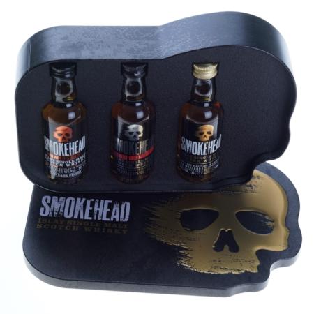 Smokehead Whisky giftset 3x5cl