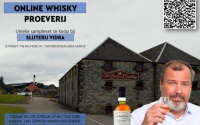 """Exclusieve Online Whiskyproeverij """"Balvenie"""" Vrijdag 22 januari"""