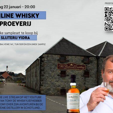 Sample Set Exclusieve Balvenie Whisky Tasting Vrijdag 22 januari o.l.v. Tony van Rooijen