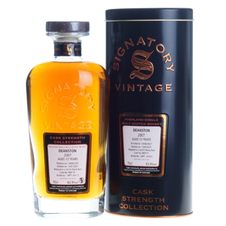 Deanston Whisky 13 Years Signatory Vintage 2007-2021 70cl 63,9%
