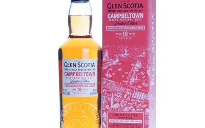 Nieuw! Glen Scotia Whisky 10 Years Bordeaux Red Wine Cask Finish Campbeltown Malts Festival 2021 70cl 56,1%