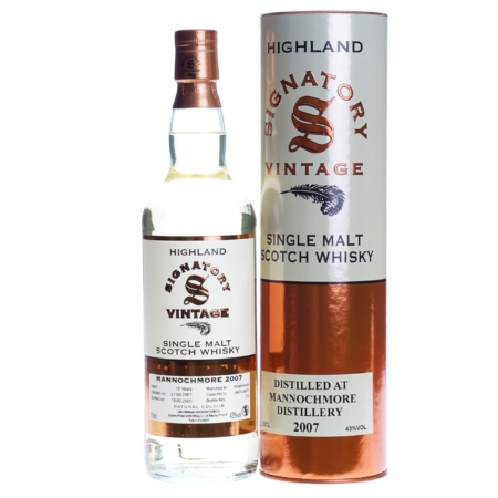Mannochmore Whisky 12 Years Signatory Vintage 2007 70cl 43%