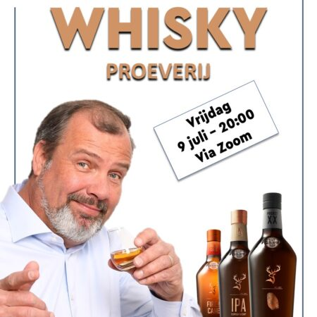 Online Whiskyproeverij Vrijdag 9 Juli o.l.v. Tony van Rooijen