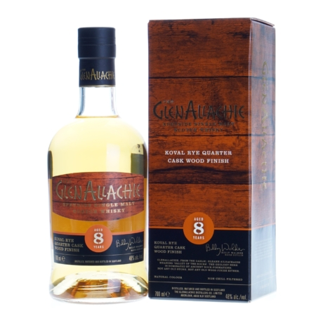 Glenallachie Whisky 8 Years Koval Rye Quarter Cask Wood Finish 70cl 48%
