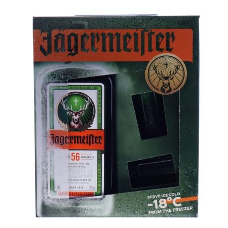 Jägermeister 70cl met 2 shot glazen